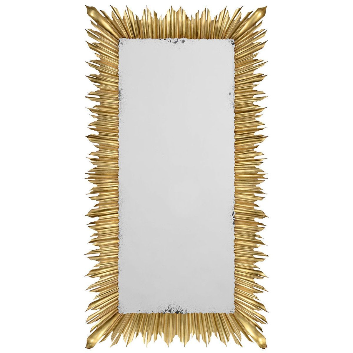 Give your furniture an antiqued or distressed look ladulcelavie - Jonathan Charles Floor Standing Rectangular Sunburst Mirror