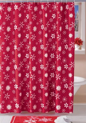 Holiday Winter Snowflake Shower Curtain