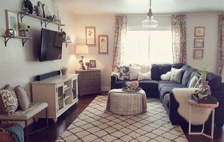 44 Cozy Apartment Living Room Ideas With Unique Decor Apartment Living Room Layout Livingroom Layout Small Apartment Living Room