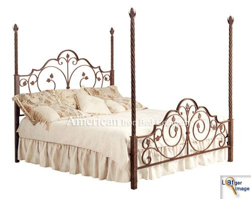 Four Poster Metal Bed Iron, Iron Bedroom Furniture Companies