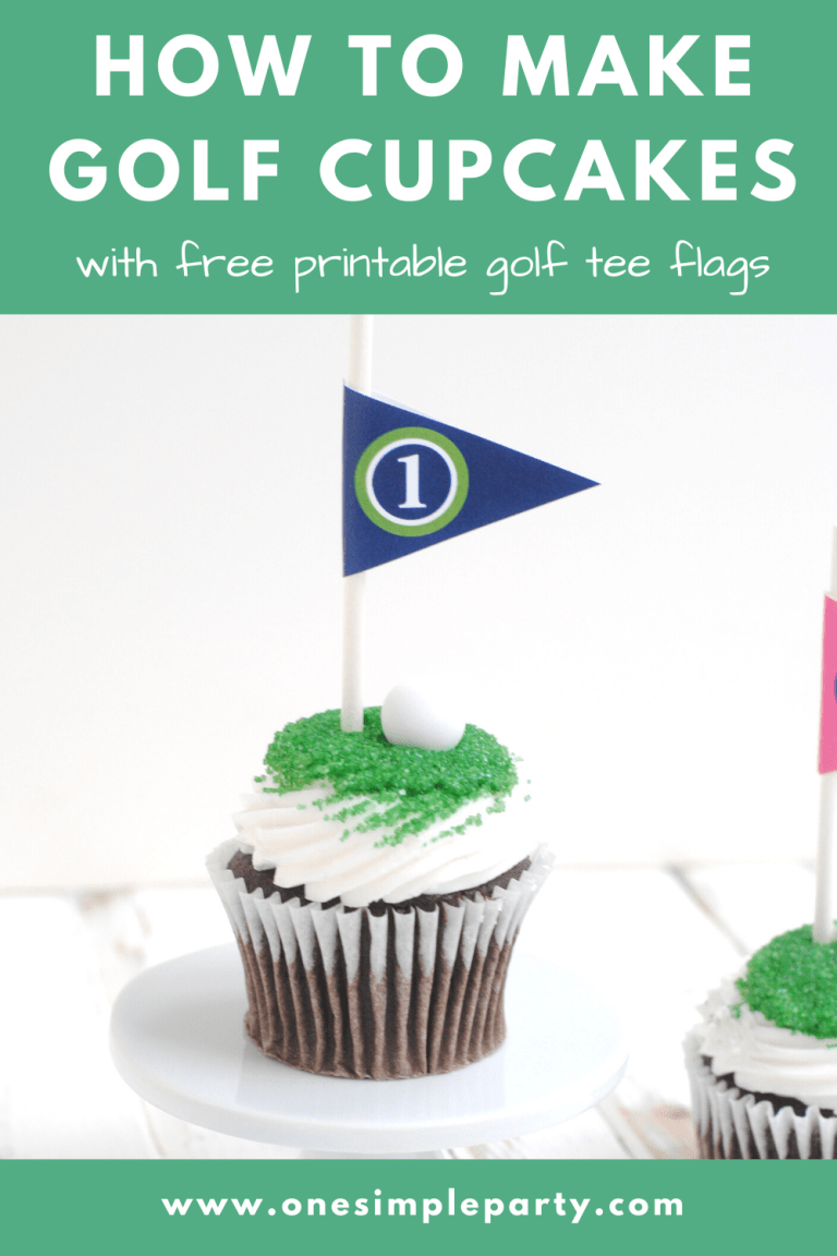 Golf Cupcakes With Free Printable Golf Flags One Simple Party Golf Cupcakes Golf Party Foods Golf Birthday Party