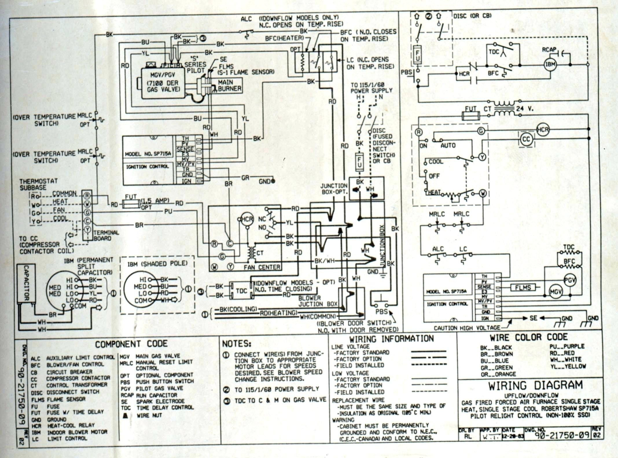 Wiring Diagram For A 2 Speed Whole House Fan In 2020 Thermostat Wiring Heat Pump Diagram