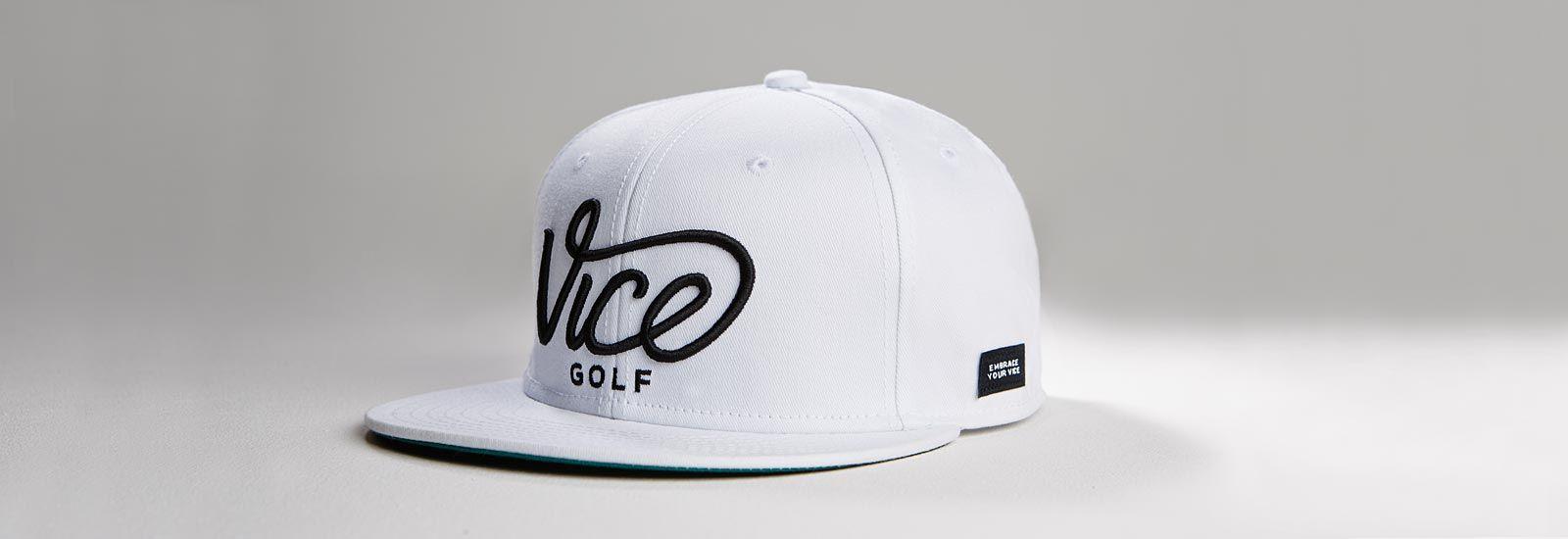VICE Golf Crew Snapback Cap – white – VICE Golf  28fa137e0ee