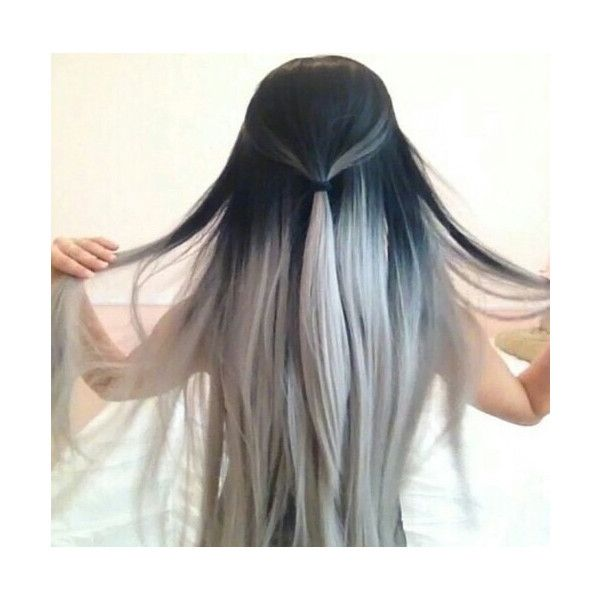 Black Hair Ombre White Image 2774887 By Lauralai On Favim Com Grey Ombre Hair Silver Ombre Hair Hair Styles