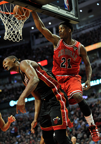Jimmy Butler Dunked On Chris Bosh And Out Came The Memes Chris Bosh Best Nba Players Chicago Bulls