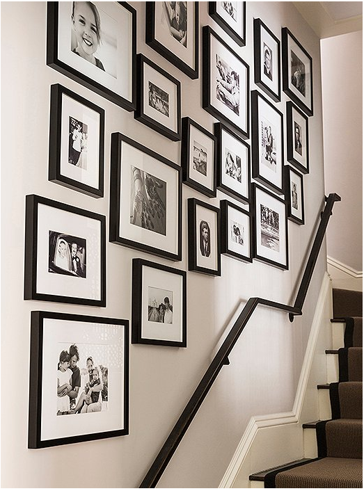Family Gallery Wall Up The Staircase Home Accessories In