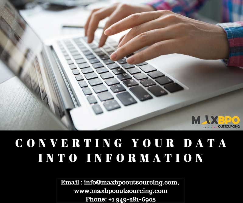 Converting your data into information we can handle large