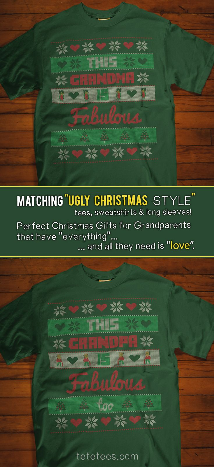gifts for grandparents that have everything cute christmas t shirts