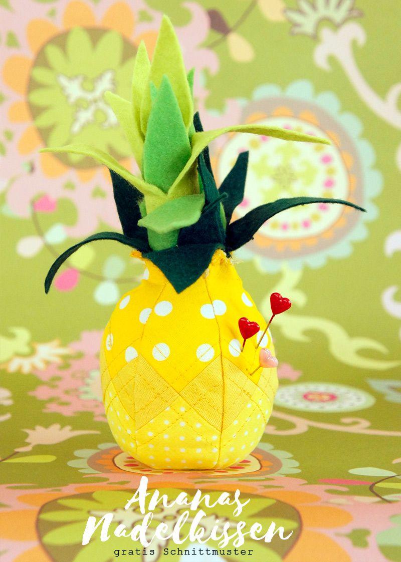 Ananas Nadelkissen, für süße Nähmomente, gratis Schnittmuster ...