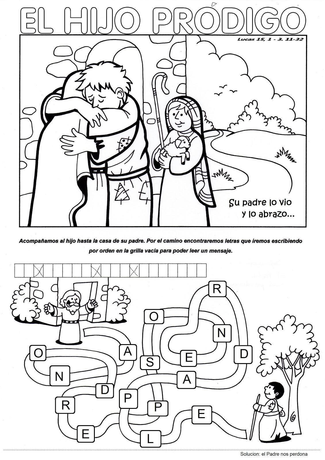 el hijo prodigo | Páginas para colorear | Pinterest | Hijos ...