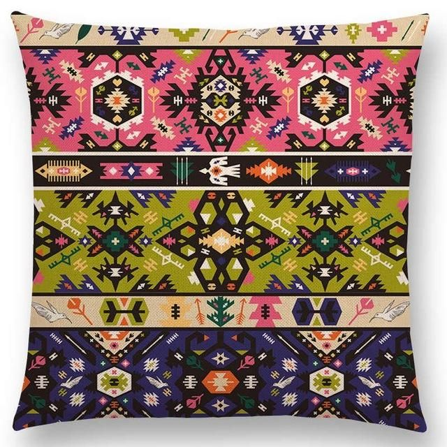 Navajo Bold Decorative Throw Pillow Covers Aztec Native American Delectable Native American Decorative Pillows