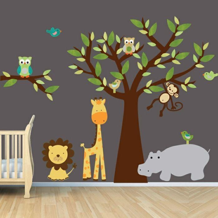 Kinderzimmer wandfarbe nach den feng shui regeln aussuchen home kinderzimmer kinder zimmer - Jungle wandtattoo ...