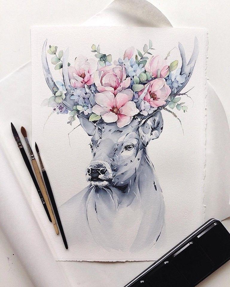 Natalia Kadantseva Art I Love Flowers Pinterest Watercolor