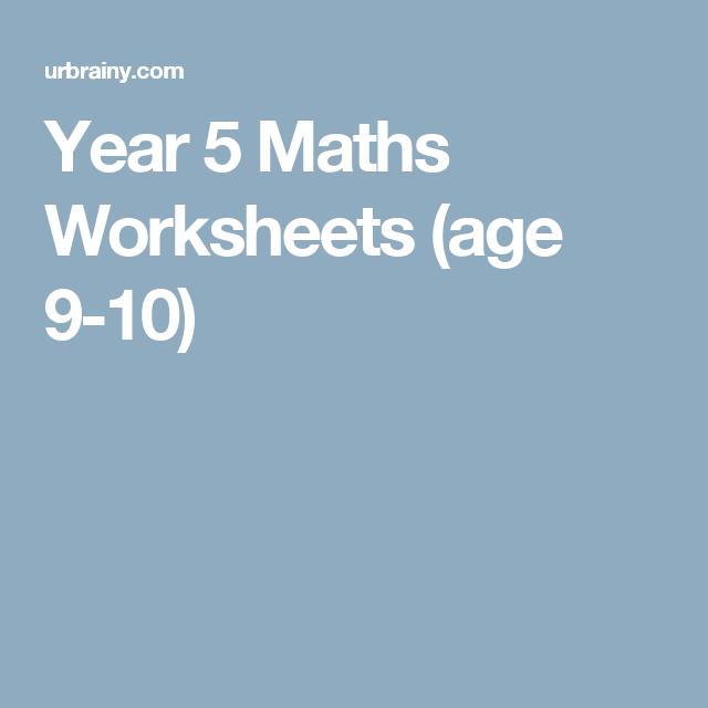 Year 5 Maths Worksheets (age 9-10) | Year 3/4/5 | Pinterest | Math ...