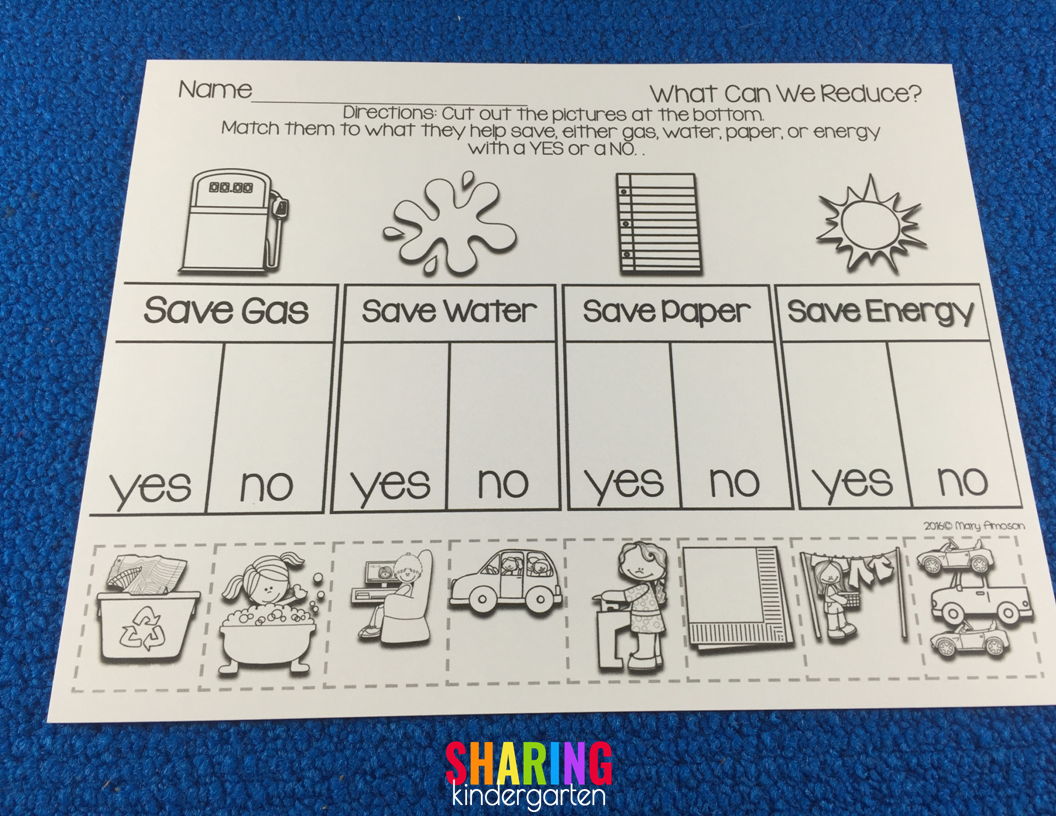 Earth Day Lesson Plans Sharing Kindergarten Earth Day Activities Earth Day Common Core Kindergarten [ 816 x 1056 Pixel ]