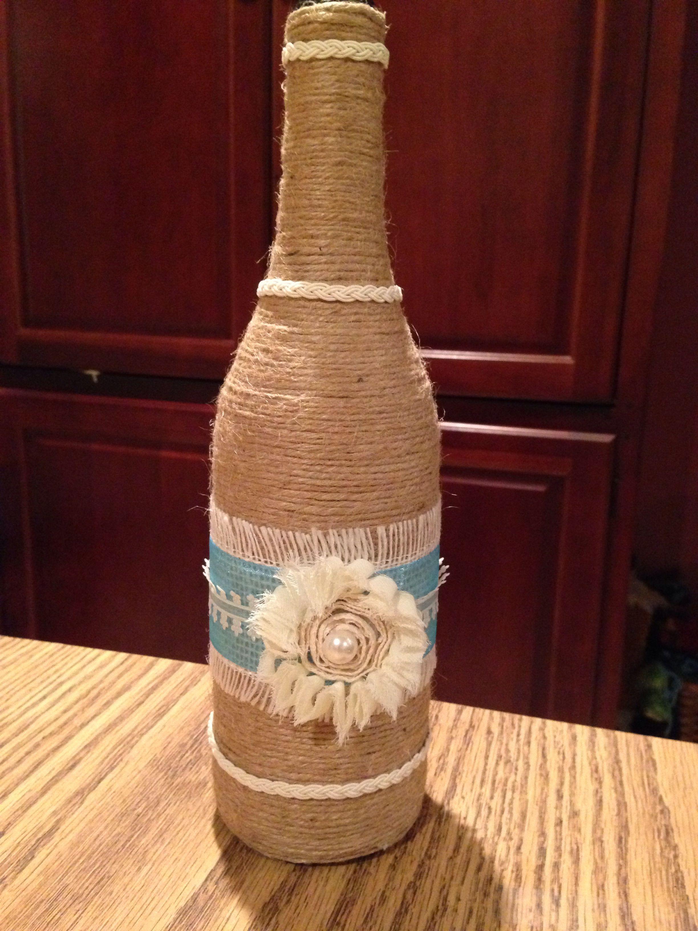 Wine bottle crafts. Wedding decor.
