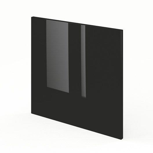 Porte Pour Lave Vaisselle Intégrable De Cuisine Noir Fdsh60