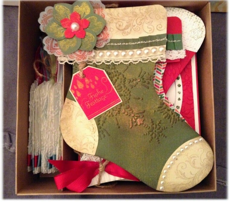 my stampart - Box inside with cards for christmas