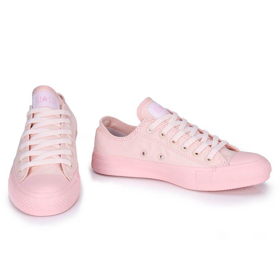 tenis converse rosa pastel