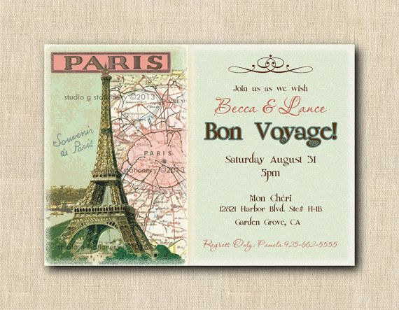 bon voyage invitation by gigimariestationery  get more fun