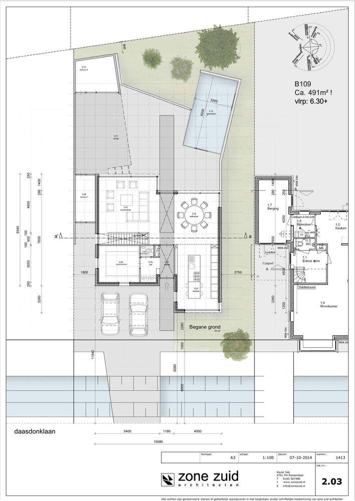 Gallery Of House Daasdonklaan Zone Zuid Architecten 22 Small House Floor Plans Architecture Plan Villa Plan