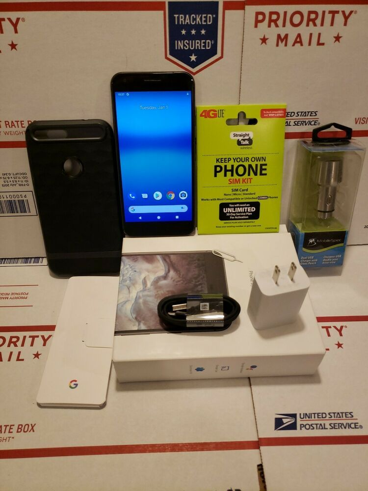 1 Sim popper  GOOGLE PIXEL XL 128GB QUITE BLACK 5 5