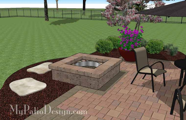 Our DIY Square Patio Design With Fire Pit Creates A Fabulous Outdoor Dining  Experience In Front