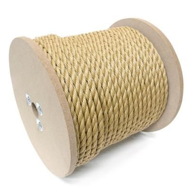 Kingcord 1 4 In X 1 200 Ft Polypropylene Twisted Rope 3 Strand Brown Unmanila Browns Tans Floating In Water Rope Knots Water Activities