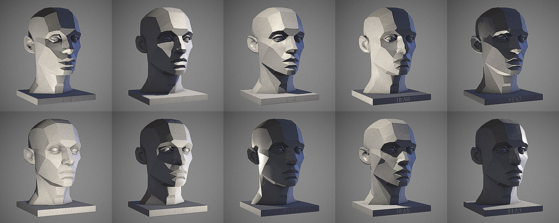 Artstation Male Head Light Reference Tool William Nguyen Shadow Drawing Face Drawing Shadow Face