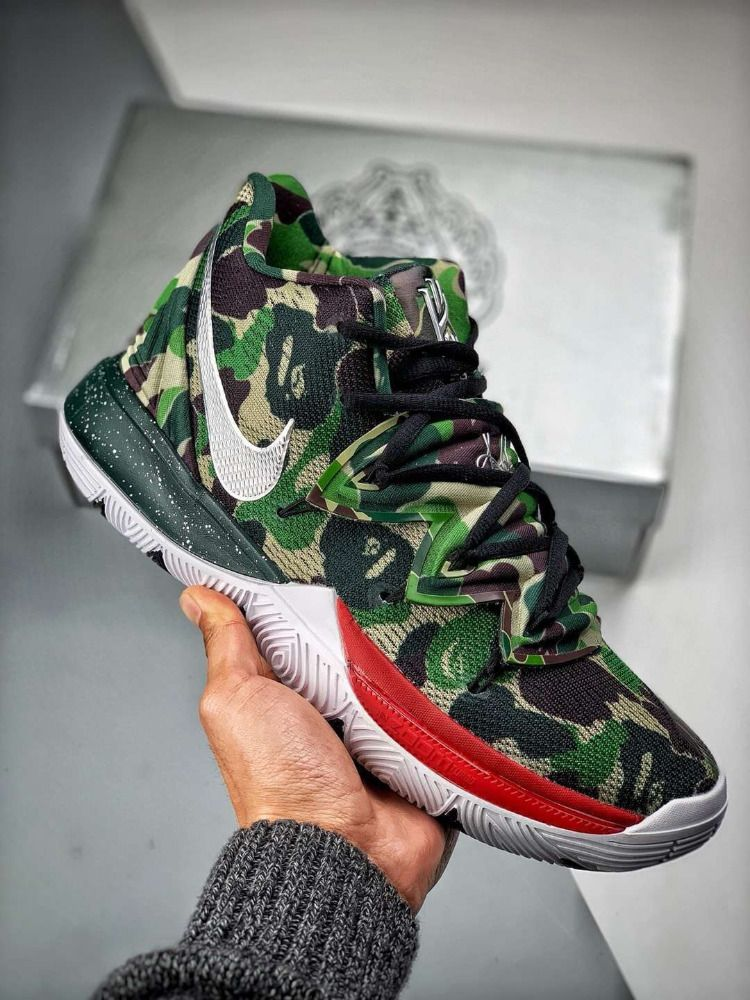 cheap for discount cc1e3 1d22a Nike Kyrie 5 X Bape AO2919-200. Find this Pin and more on Shoes ...