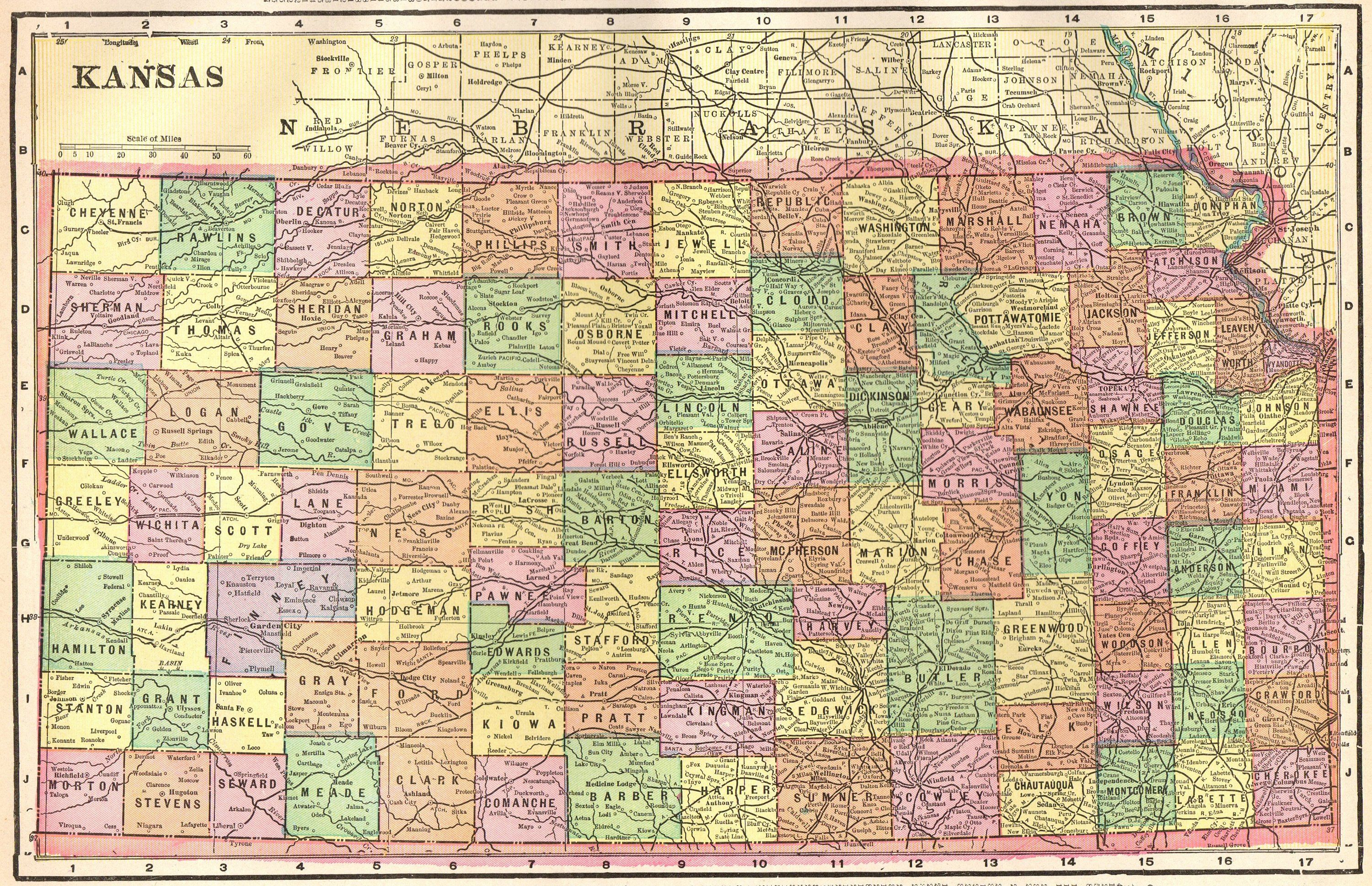 1899 Antique KANSAS Map of Kansas State Map Gallery Wall Art ... on missouri map, kansas small town map, printable kansas map, kansas interstate map, kansas elevation map, the state map, usa map, herington kansas map, colorado map, kansas lakes map, arkansas map, kansas counties map, kansas road map, kansas map with all cities, united states map, tennessee state map, kansas us map, oklahoma map, nebraska map, colby kansas map,