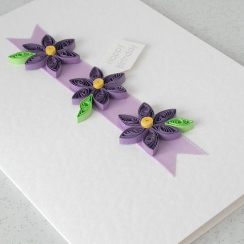 Another Idea For Moms Birthday Card Like The 3 Flower Idea For Her