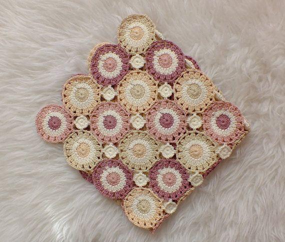 Crochet Blanket Pattern, Floral Blanket Pattern, Photo Prop