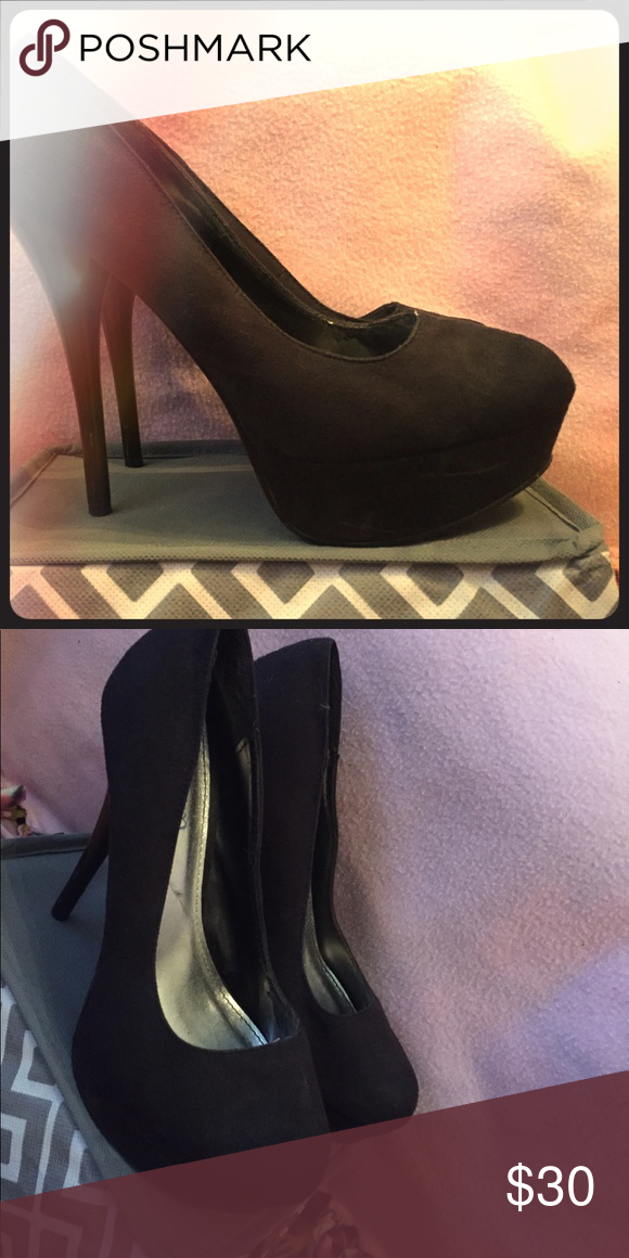 All velvet, sky high black pumps! All black velvet, Black, sky high pumps! Less then 10 wears! Deb Shoes Heels