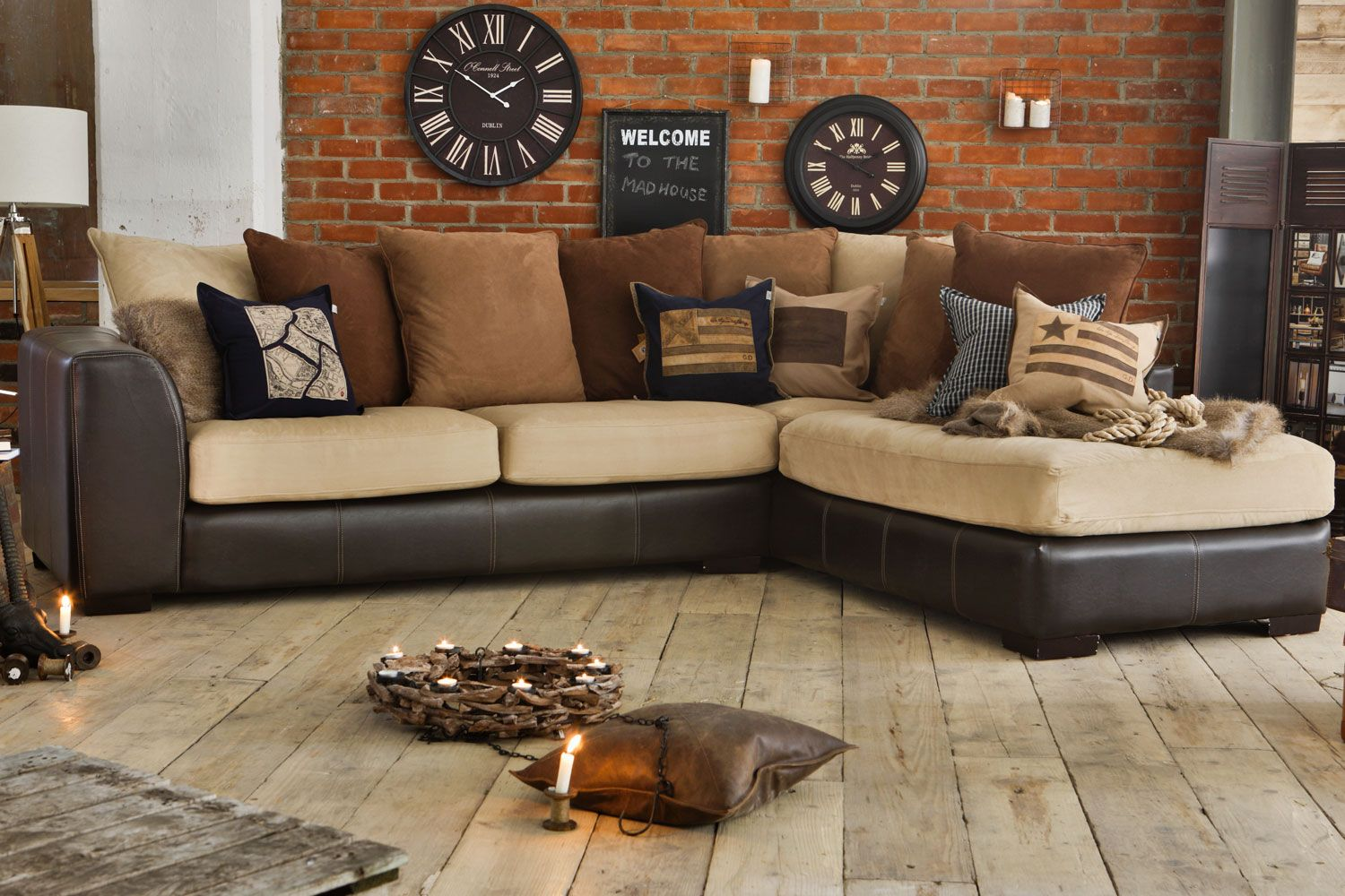 Sofa Cover Lagosta Leather Corner Sofa from Harvey Norman Ireland Photoshoot Pinterest House