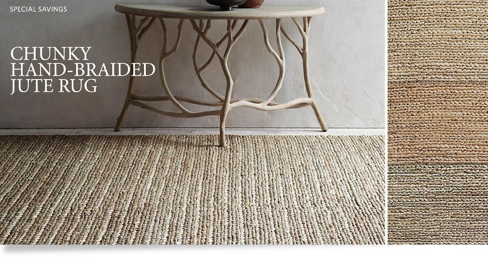 natural hide sisal rug chunky handbraided jute rug