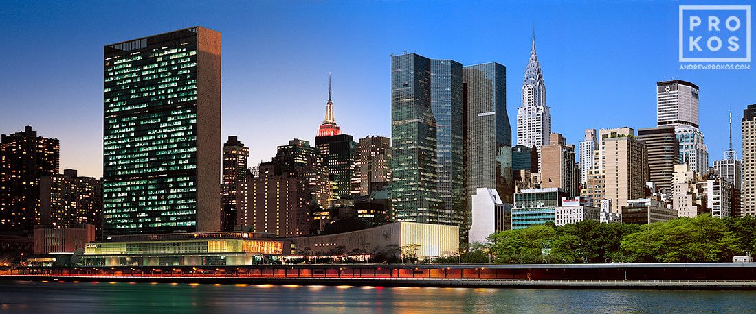 Night Day Midtown East Skyline High Definition Fine Art Photo By Andrew Prokos