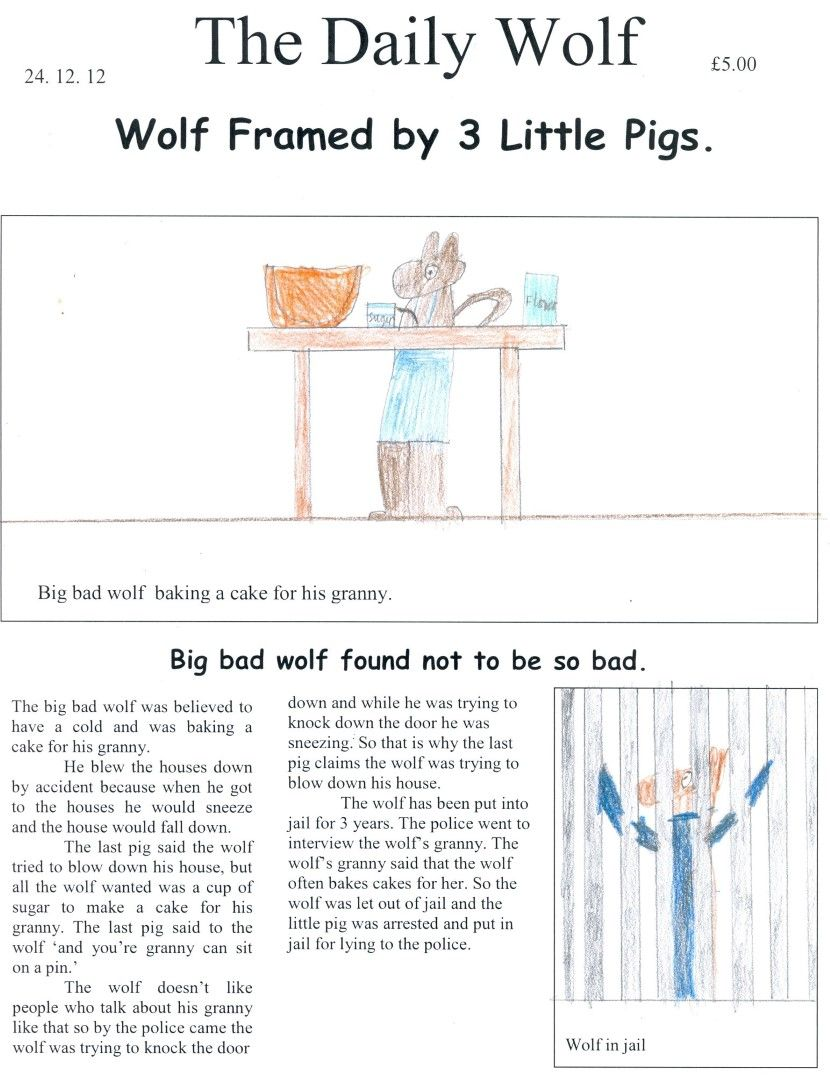 Newspaper Report Of The Three Little Pigs  Google Search  News