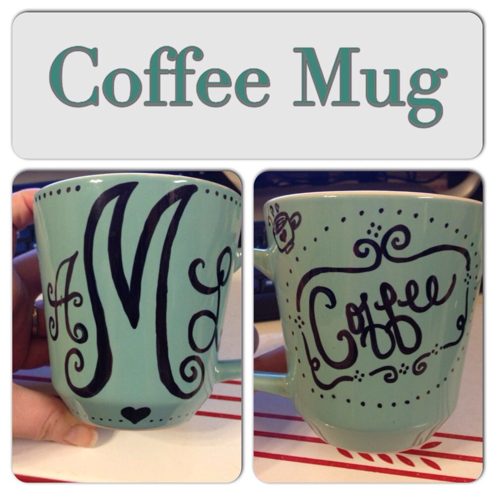 DIY coffee mug with a sharpie.