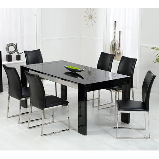 Image result for black glass dining room Dining decor
