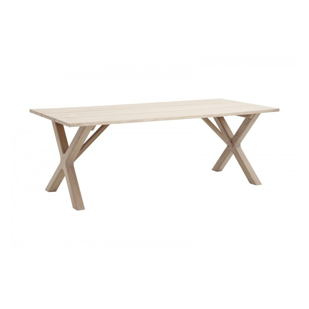 Prima Casö 800 - Matbord - Plank bord med kryssben 220-320 cm :: Matbord TG-72