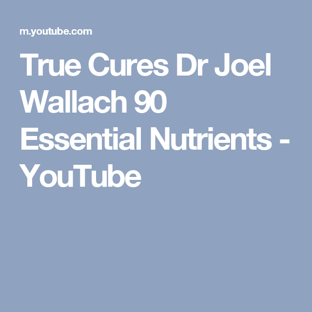 True Cures Dr Joel Wallach 90 Essential Nutrients Youthe Cure Essentials