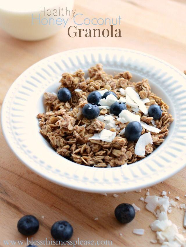 Healthy honey coconut granola recipe