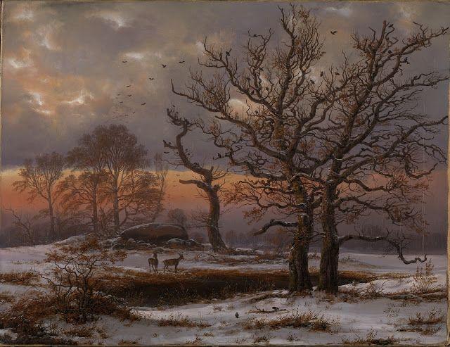 Johan Christian Clausen Dahl (1788-1857), Danemark, Paysage Hivernal - 1837