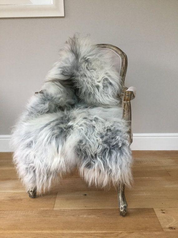 Stunning Natural Grey Gray Icelandic Sheepskin Rug Large Amazing No 2 Undyed Organic Rare By Swedishdalahorse Trendingetsy