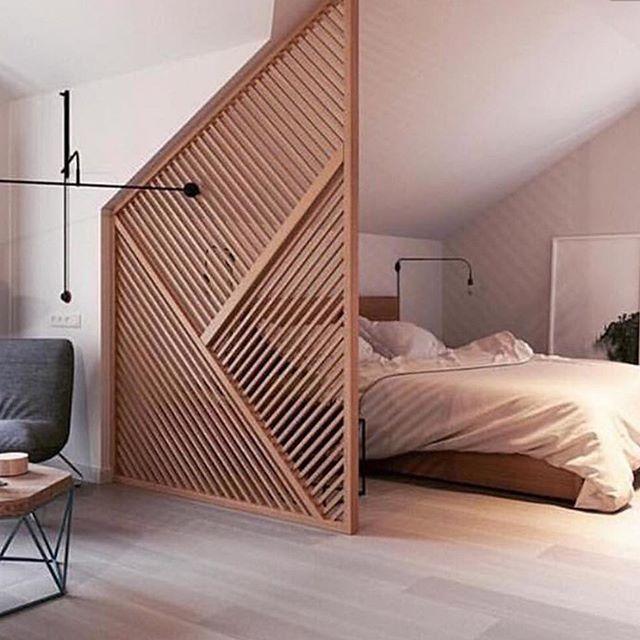 Geometric Wood Room Divider Home Bedroom Small Room Design