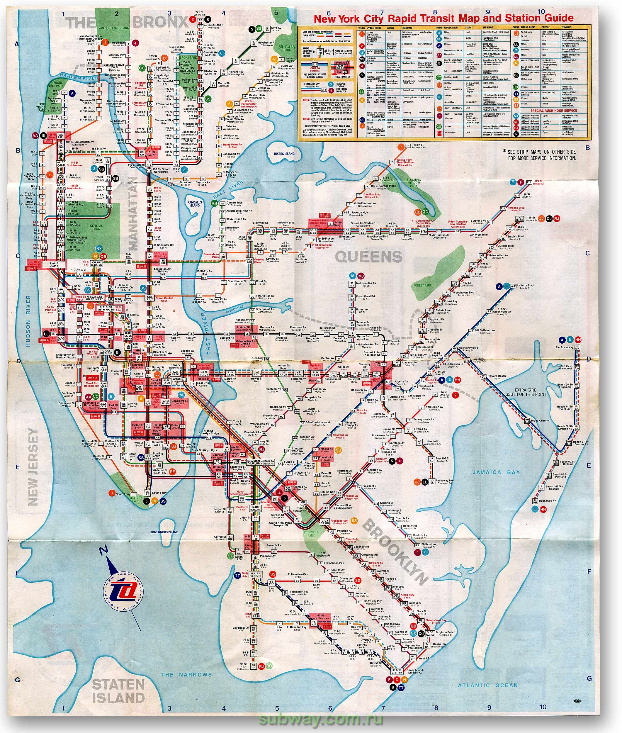Ny Street And Subway Map.1967 Subway Map Chrystie Street Edition Fun City 4ever Nyc