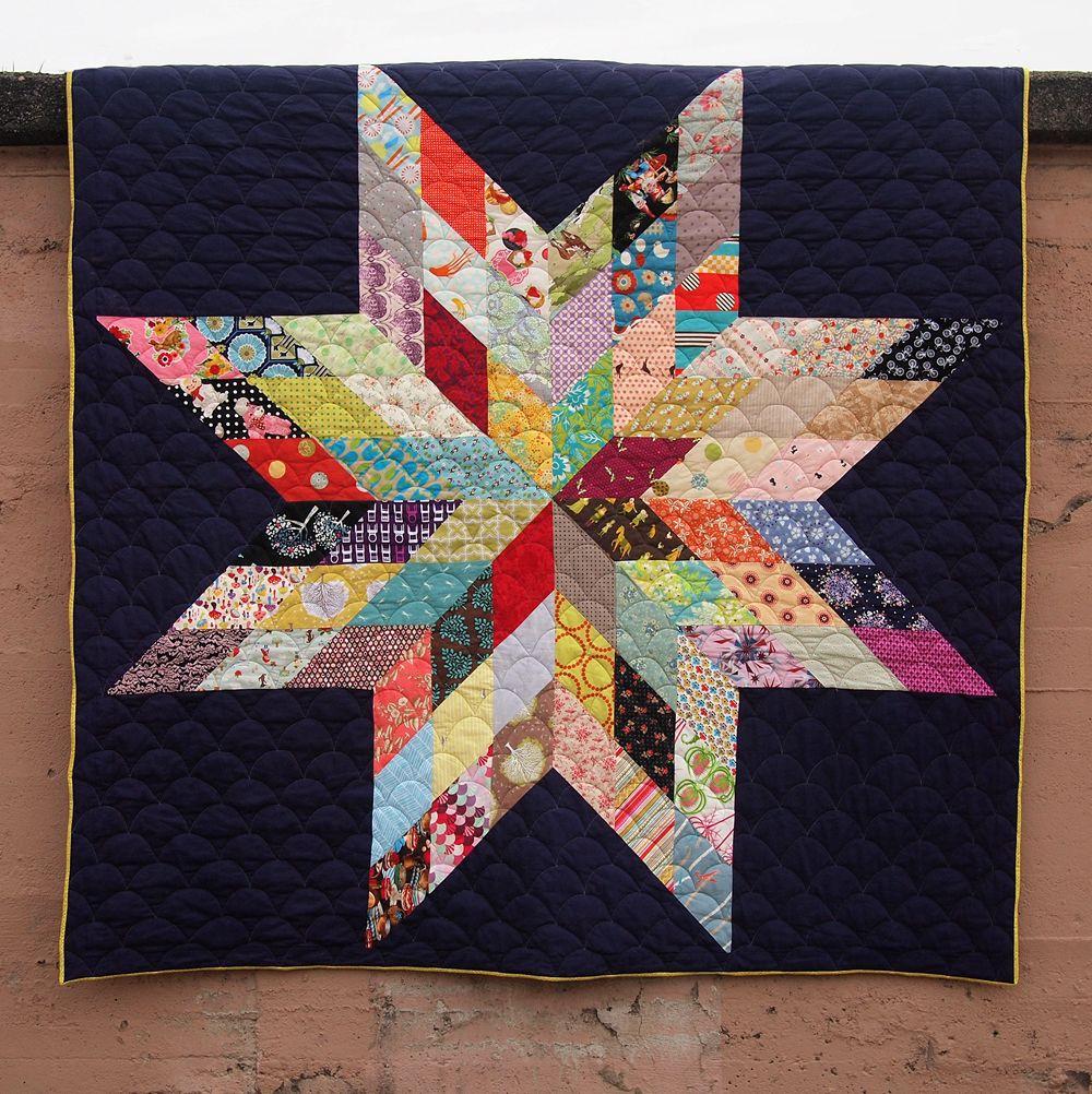 Fancy Tiger Crafts: Jaime's Giant Star Quilt | Star Gazing ... : large star quilt pattern - Adamdwight.com
