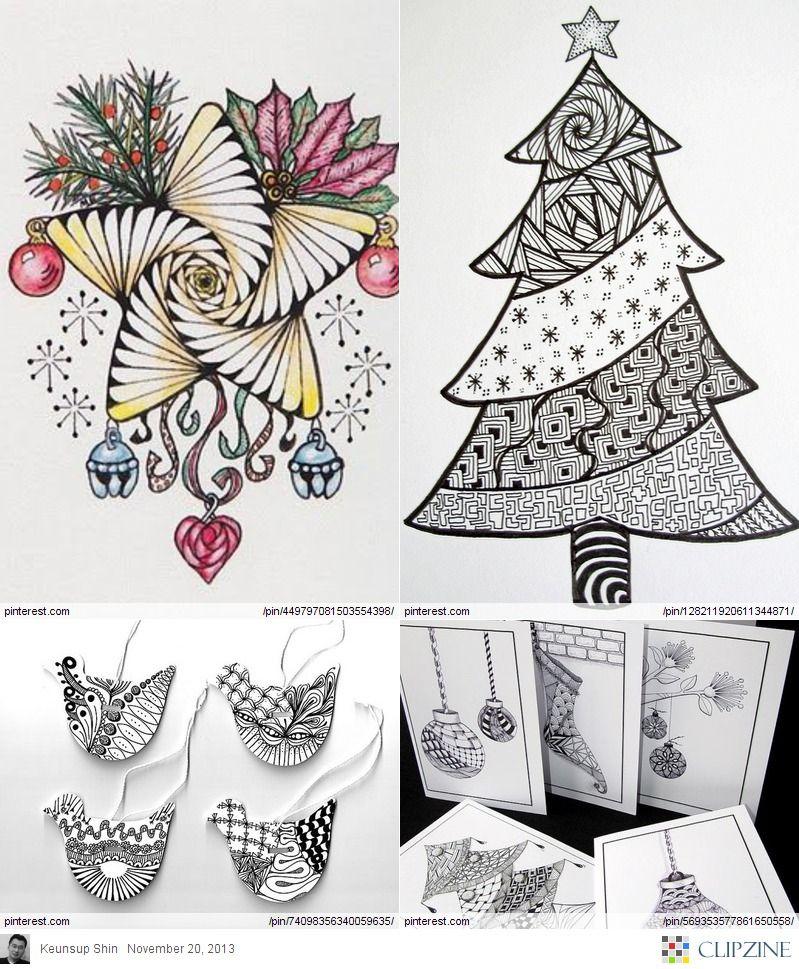 Christmas Zentangle Patterns | Zentangle Patterns | Pinterest ...