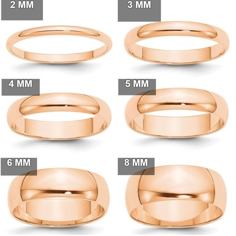 10k Solid Rose Gold 2mm 3mm 4mm 5mm 6mm 8mm Wide Men S Etsy In 2020 Womens Wedding Bands Wedding Ring Bands Plain Wedding Band